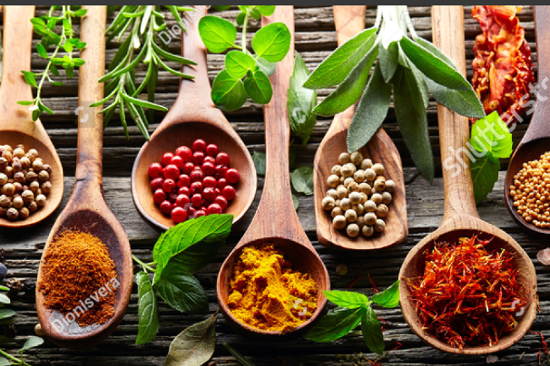 Screenshot-2018-6-5 Herbs and spices on a wooden background